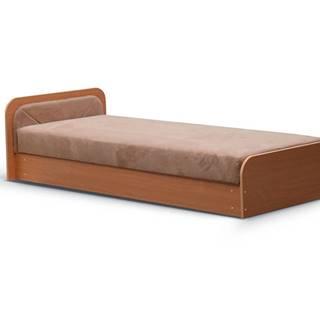 Pinerolo 80 L jednolôžková posteľ s úložným priestorom hnedá