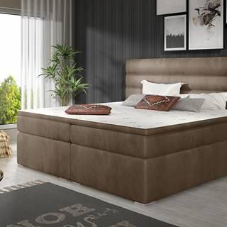 Spezia 160 čalúnená manželská posteľ s úložným priestorom hnedá