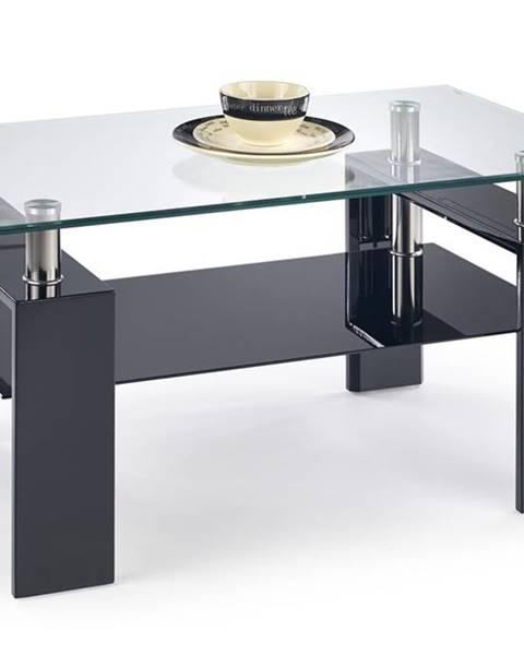 Halmar Diana H sklenený konferenčný stolík čierny lesk