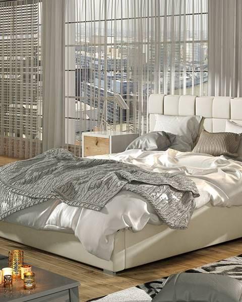 NABBI Galimo 180 čalúnená manželská posteľ s roštom béžová