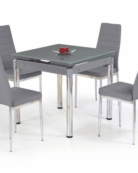 Halmar Kent sklenený rozkladací jedálenský stôl sivá
