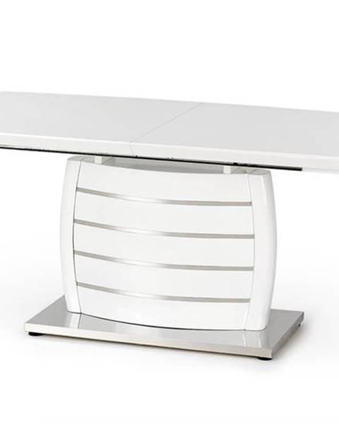 Halmar Onyx rozkladací jedálenský stôl biely lesk