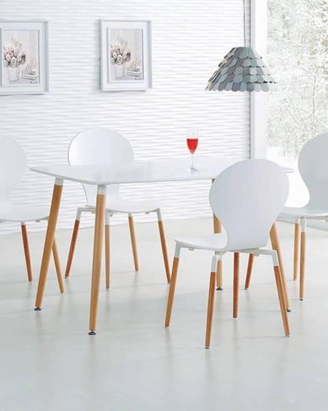 Halmar Socrates 120 jedálenský stôl biely lesk