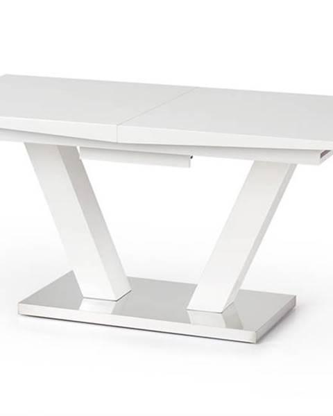 Halmar Vision rozkladací jedálenský stôl biely lesk