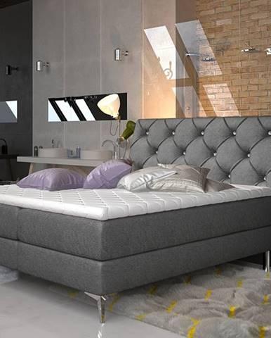 Amika 140 čalúnená manželská posteľ s úložným priestorom čierna (Dora 96)