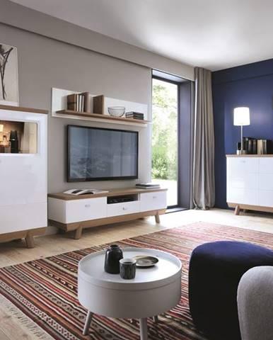 Aspen obývacia izba biely vysoký lesk