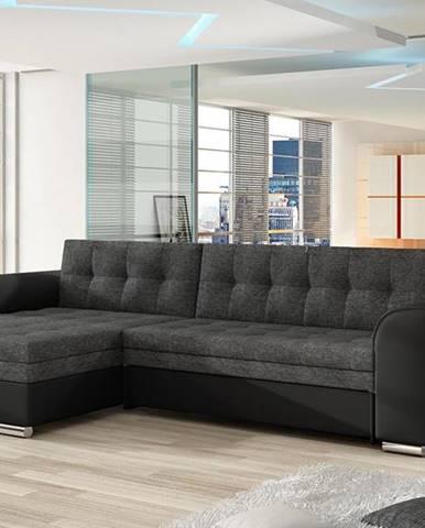 Caltanis L rohová sedačka s rozkladom sivá (Sawana 05)
