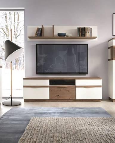 Como obývacia izba biely vysoký lesk