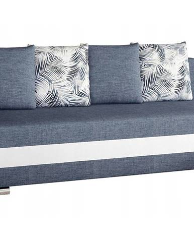 Copparo rozkladacia pohovka s úložným priestorom modrá