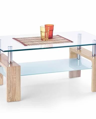 Diana Intro sklenený konferenčný stolík dub sonoma