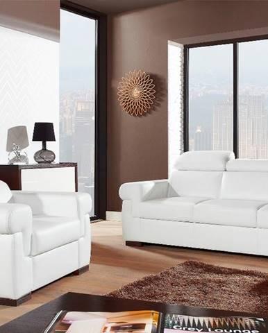 Everest kožená sedacia súprava biela (Madras white)