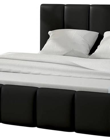 Evora 160 čalúnená manželská posteľ čierna (Soft 11)