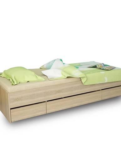 Matiasi 90 jednolôžková posteľ s úložným priestorom buk