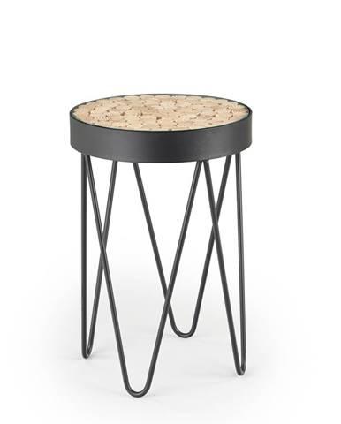 Naturo okrúhly konferenčný stolík čierna