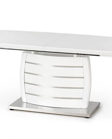 Onyx rozkladací jedálenský stôl biely lesk
