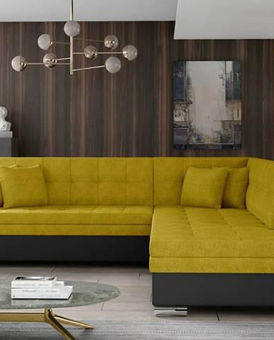 Pescara P rohová sedačka s rozkladom žltá