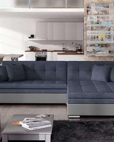 Salerno P rohová sedačka s rozkladom modrá