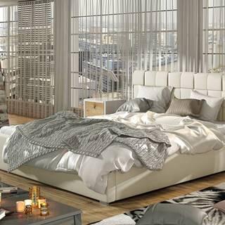 Galimo 180 čalúnená manželská posteľ s roštom béžová