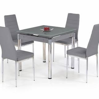 Kent sklenený rozkladací jedálenský stôl sivá