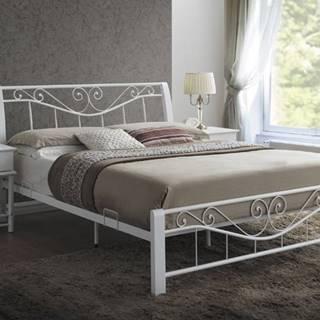 Parma 160 rustikálna manželská posteľ s roštom biela