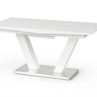 Vision rozkladací jedálenský stôl biely lesk
