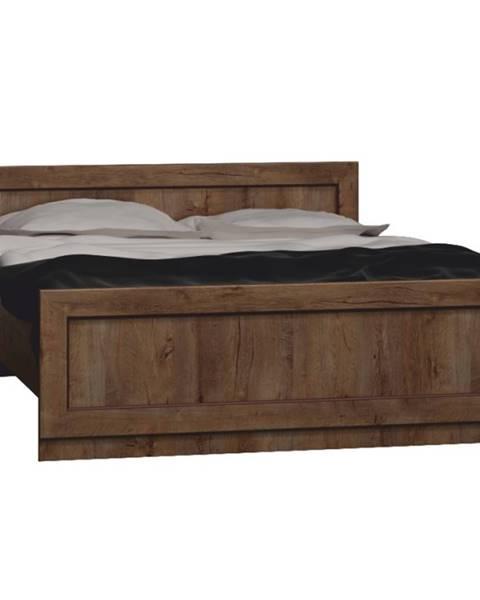 Tempo Kondela Tedy T20 160 rustikálna posteľ s roštom dub lefkas