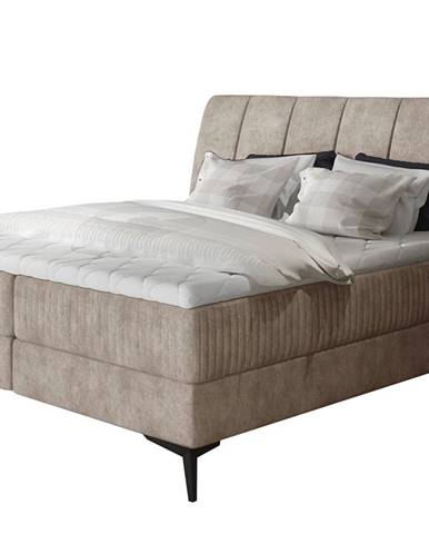Altama 160 čalúnená manželská posteľ s úložným priestorom béžová