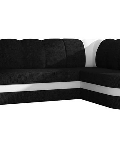 Belluno P rohová sedačka s rozkladom a úložným priestorom čierna (Sawana 14)