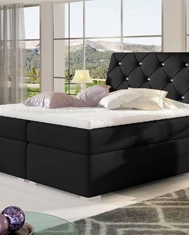 Beneto 160 čalúnená manželská posteľ s úložným priestorom čierna (Soft 11)