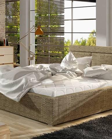 Branco UP 140 čalúnená manželská posteľ s roštom cappuccino