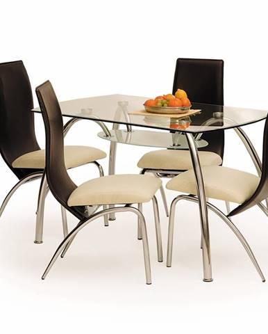 Corwin BIS sklenený jedálenský stôl priehľadná