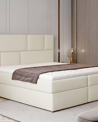 Ferine 165 čalúnená manželská posteľ s úložným priestorom béžová