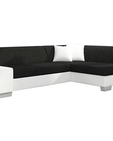 Ferol P rohová sedačka s rozkladom a úložným priestorom čierna (Sawana 14)
