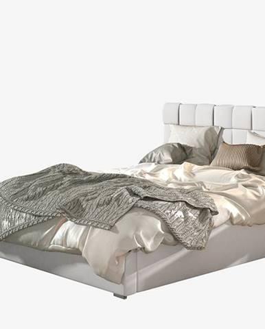 Galimo 200 čalúnená manželská posteľ s roštom biela