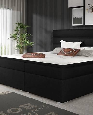 Spezia 180 čalúnená manželská posteľ s úložným priestorom čierna (Sawana 14)