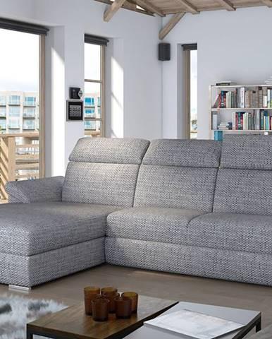 Tarragon L rohová sedačka s rozkladom a úložným priestorom sivá