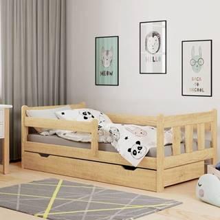 Marinella 80 drevená posteľ s prísteľkou prírodná
