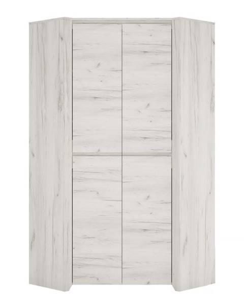 Tempo Kondela Angel Typ 21 2D rohová šatníková skriňa biela