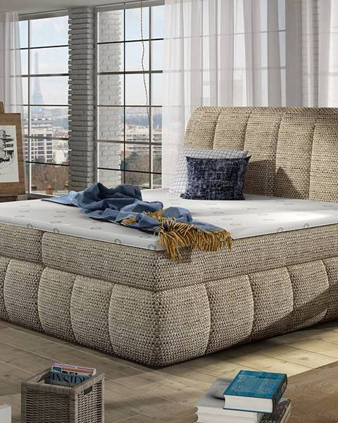 NABBI Vareso 140 čalúnená manželská posteľ s úložným priestorom cappuccino