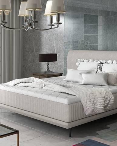 Ancona 160 čalúnená manželská posteľ svetlosivá (Orinoco 21)