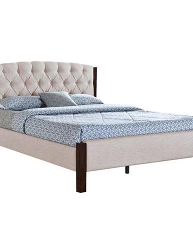 Elena New 160 čalúnená manželská posteľ s roštom piesková