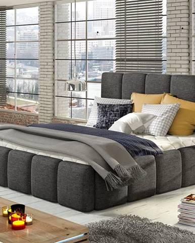 Evora 140 čalúnená manželská posteľ sivá (Sawana 05)