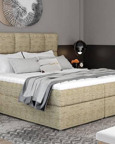 Grosio 145 čalúnená manželská posteľ s úložným priestorom cappuccino