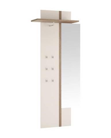 Lynatet 115 vešiaková stena so zrkadlom biela