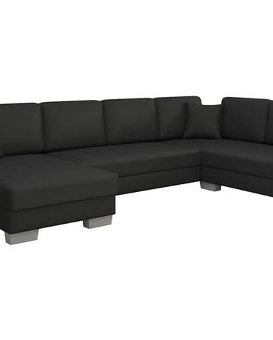 Mariano P rohová sedačka u s rozkladom a úložným priestorom čierna