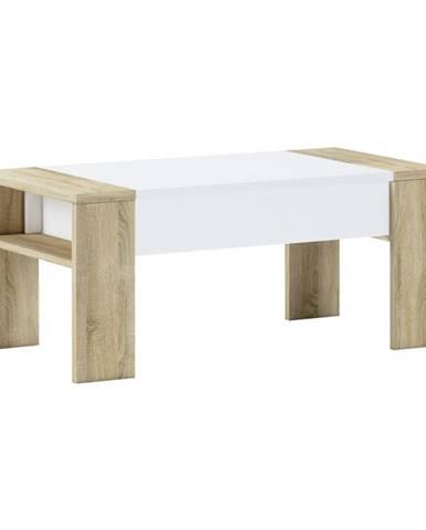 Pula konferenčný stolík s úložným priestorom dub sonoma