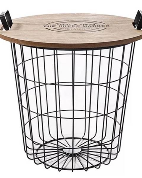 Tempo Kondela Nando príručný stolík s úložným priestorom prírodná