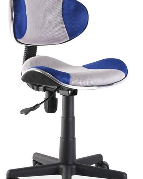 Signal Q-G2 kancelárska stolička modrá