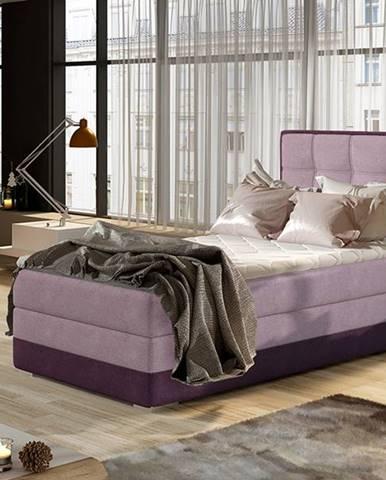 Alessandra 90 P čalúnená jednolôžková posteľ ružová