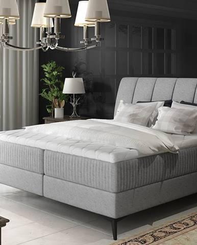 Altama 160 čalúnená manželská posteľ s úložným priestorom svetlosivá (Gusto 88)